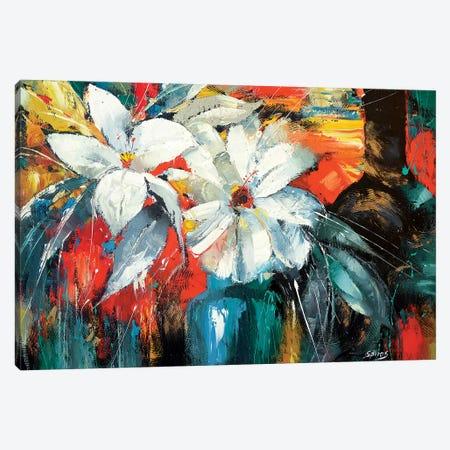 White Flowers Canvas Print #DMT196} by Dmitry Spiros Canvas Art Print