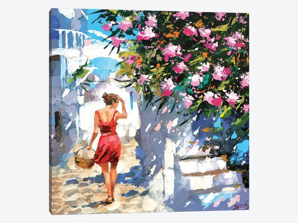 Greek Lane by Dmitry Spiros 1-piece Canvas Art Print