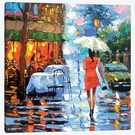Rainy Rendezvous Canvas Print #DMT204} by Dmitry Spiros Canvas Art Print