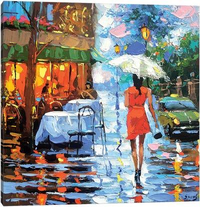 Rainy Rendezvous Canvas Art Print