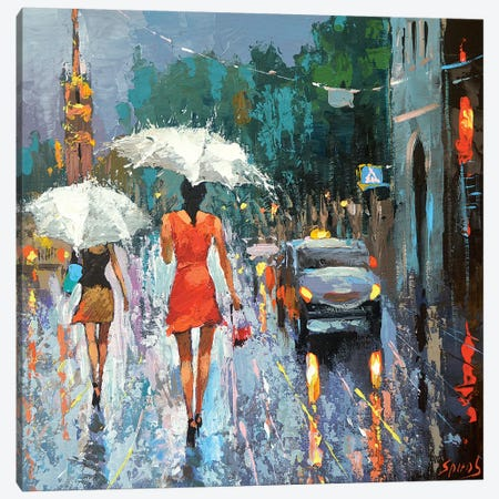 Summer Rain Canvas Print #DMT205} by Dmitry Spiros Art Print