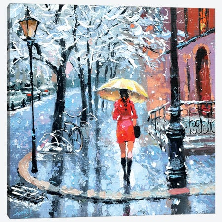 The First Snow Canvas Print #DMT207} by Dmitry Spiros Canvas Print