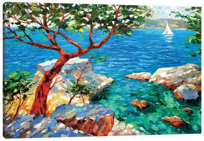 The View Of The Azure Bay Canvas Art Print