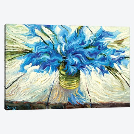 Blue Bouquet Canvas Print #DMT20} by Dmitry Spiros Canvas Artwork