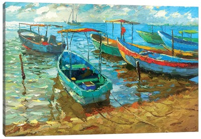 Fishing Boats Afternoon Canvas Art Print