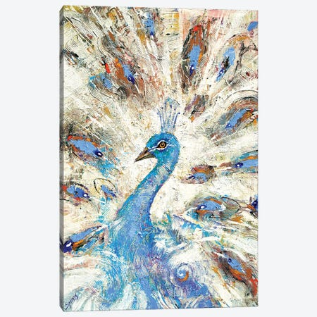 Blue Peacock Canvas Print #DMT24} by Dmitry Spiros Canvas Print