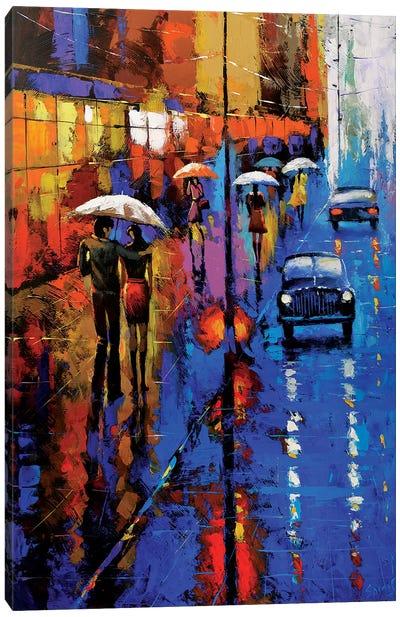 Blue Taxi Canvas Art Print