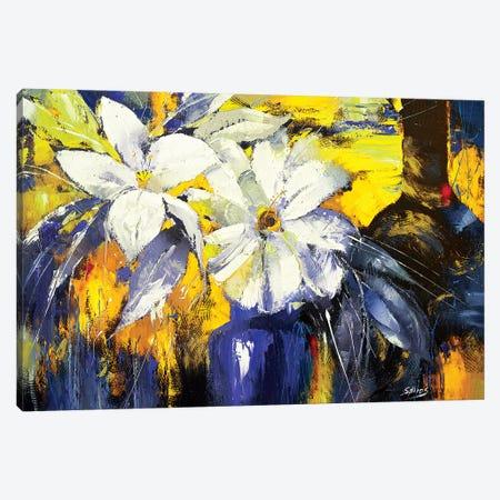 Blue Vase Canvas Print #DMT26} by Dmitry Spiros Art Print