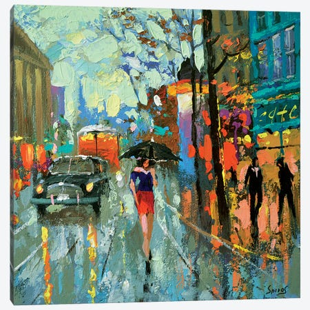 Brooding Rain Canvas Print #DMT36} by Dmitry Spiros Canvas Artwork
