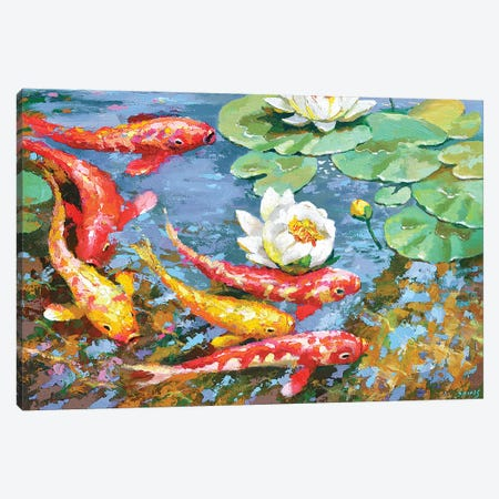 Carps Canvas Print #DMT39} by Dmitry Spiros Canvas Print