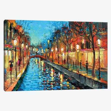 Alley Lovers Canvas Print #DMT3} by Dmitry Spiros Canvas Wall Art