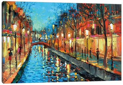 Alley Lovers Canvas Art Print