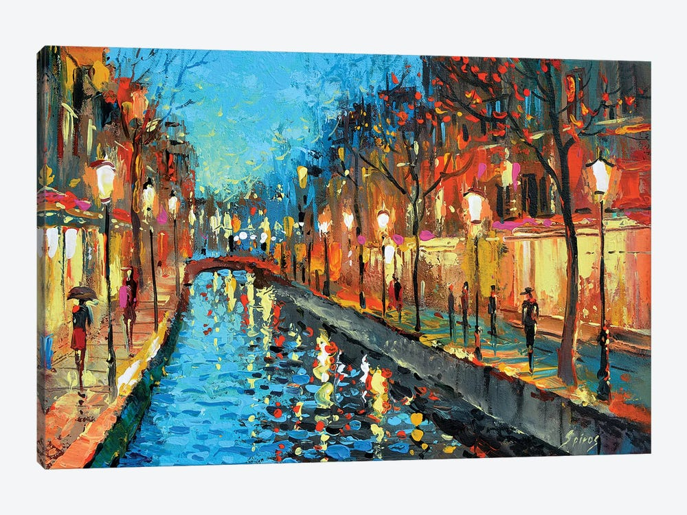 Alley Lovers 1-piece Canvas Print