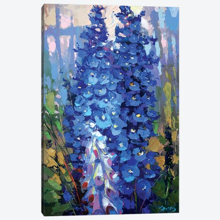 Delphiniums Canvas Print #DMT47} by Dmitry Spiros Canvas Print