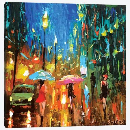 Emerald Night Canvas Print #DMT53} by Dmitry Spiros Art Print