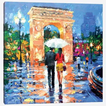 Esta Noche Es Tan Lluvioso Canvas Print #DMT55} by Dmitry Spiros Canvas Artwork