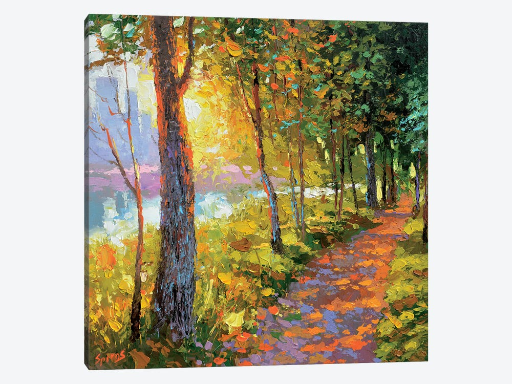 Evening Alley by Dmitry Spiros 1-piece Canvas Artwork