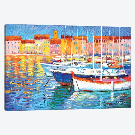 Evening Light Canvas Print #DMT63} by Dmitry Spiros Canvas Artwork