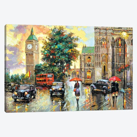Evening London Canvas Print #DMT64} by Dmitry Spiros Art Print