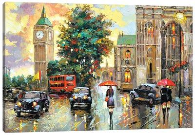 Evening London Canvas Art Print