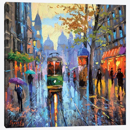 Evening Rain Canvas Print #DMT65} by Dmitry Spiros Art Print