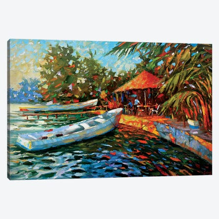 Evening. Dining On The Island Canvas Print #DMT67} by Dmitry Spiros Art Print
