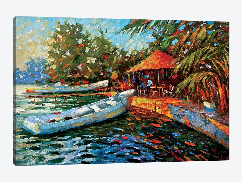 Evening. Dining On The Island by Dmitry Spiros 1-piece Canvas Art Print