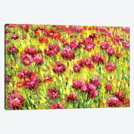 Field Of Blooms Canvas Print #DMT69} by Dmitry Spiros Canvas Artwork
