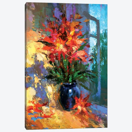 Flowers Evening Canvas Print #DMT72} by Dmitry Spiros Canvas Print