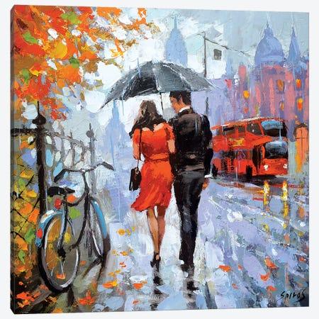 Gentle Raindrops Canvas Print #DMT81} by Dmitry Spiros Canvas Art