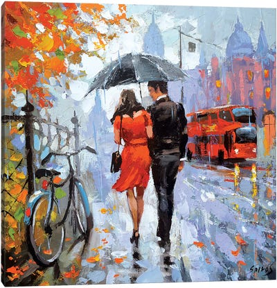 Gentle Raindrops Canvas Art Print