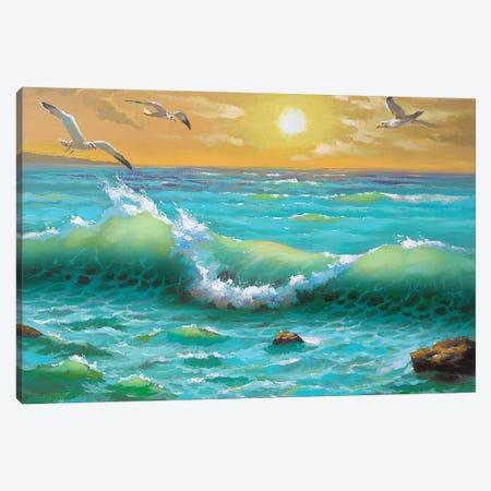Golden Sunset Canvas Print #DMT86} by Dmitry Spiros Canvas Print