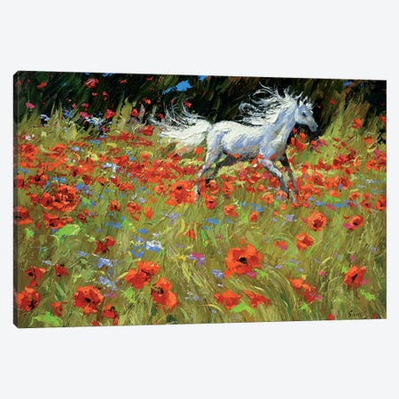 In Meadows Green Canvas Print #DMT89} by Dmitry Spiros Canvas Wall Art