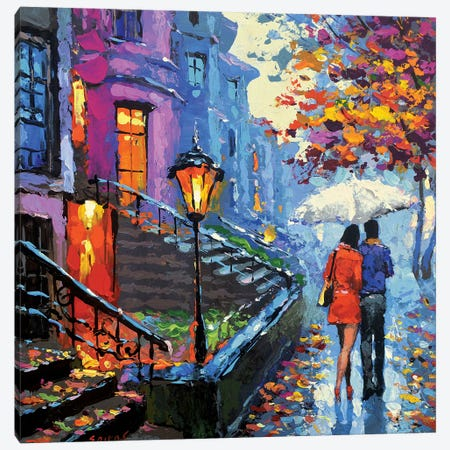 Autumn Evening Canvas Print #DMT8} by Dmitry Spiros Canvas Wall Art