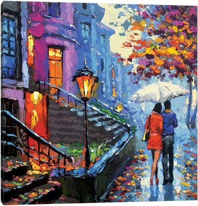 Autumn Evening Canvas Art Print