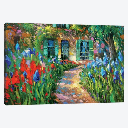 Irises Near The House Canvas Print #DMT95} by Dmitry Spiros Canvas Artwork