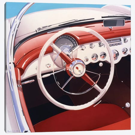 Steering Canvas Print #DMU5} by Dennis Mukai Canvas Wall Art