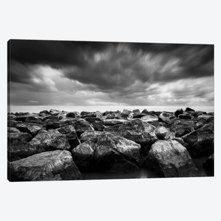 Breakwater Canvas Print #DMV5} by Dave MacVicar Art Print