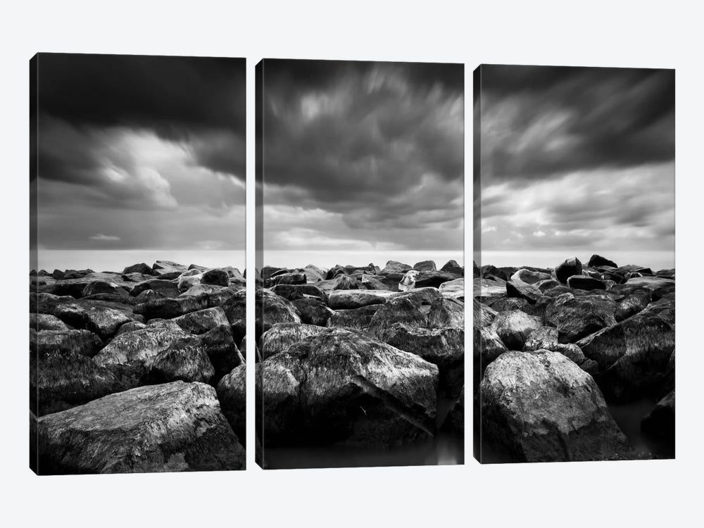 Breakwater by Dave MacVicar 3-piece Canvas Print
