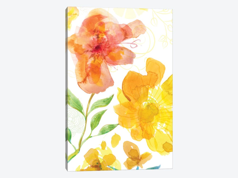 Blossoms In The Sun I by Delores Naskrent 1-piece Canvas Wall Art