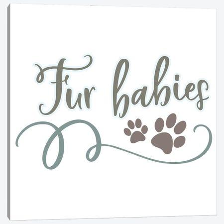 Fur Babies Canvas Print #DNA21} by Delores Naskrent Canvas Print