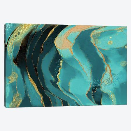 Jade Radiance Canvas Print #DNA26} by Delores Naskrent Canvas Artwork