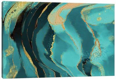 Jade Radiance Canvas Art Print