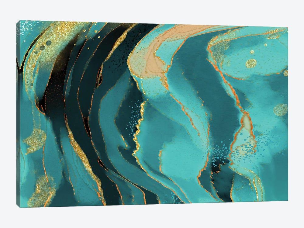 Jade Radiance by Delores Naskrent 1-piece Canvas Art Print