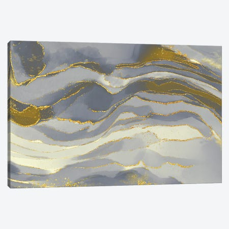 Ivory Glitz Canvas Print #DNA27} by Delores Naskrent Canvas Art