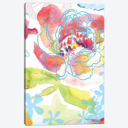 Blossoms In The Sun II Canvas Print #DNA2} by Delores Naskrent Art Print