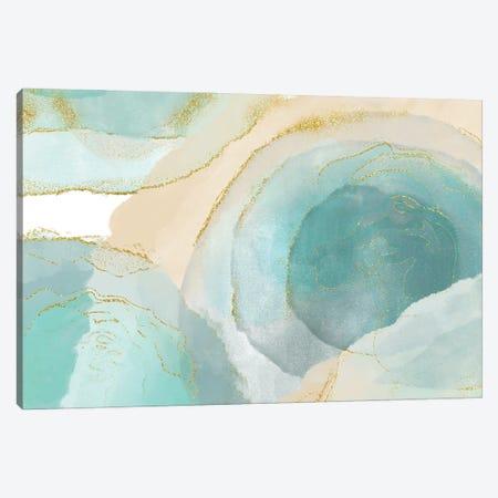 Waikiki Beach Blue Canvas Print #DNA32} by Delores Naskrent Canvas Artwork
