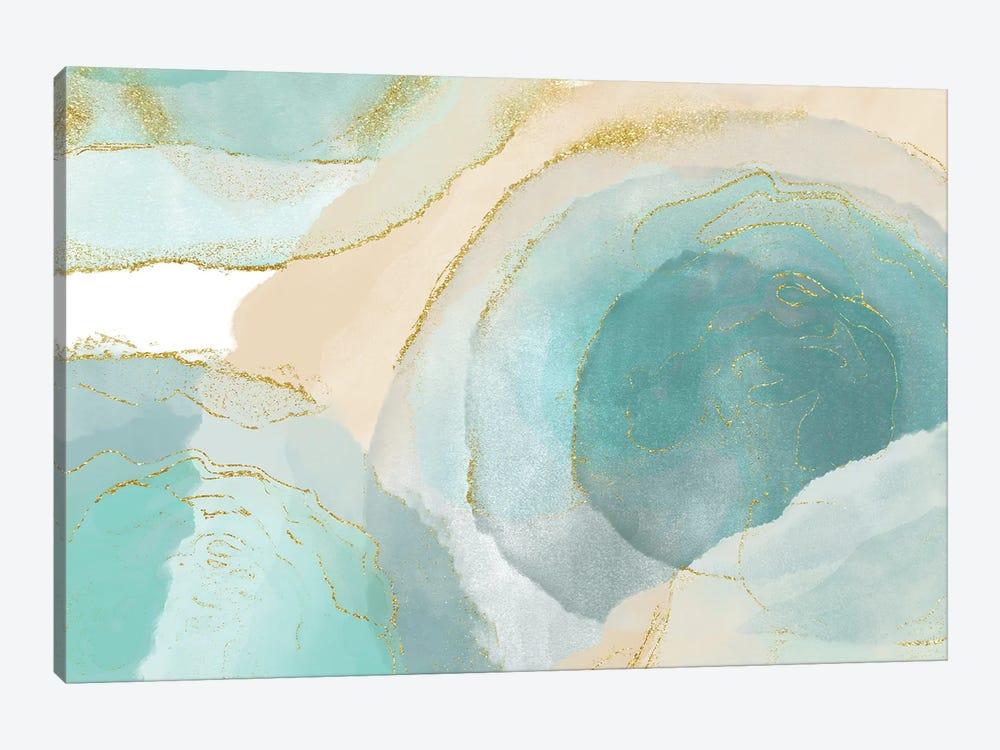 Waikiki Beach Blue by Delores Naskrent 1-piece Canvas Wall Art