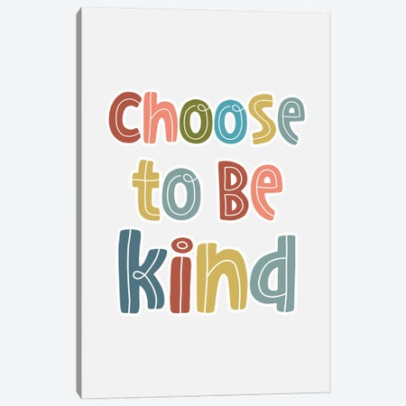 Be Kind Canvas Print #DNA47} by Delores Naskrent Canvas Wall Art