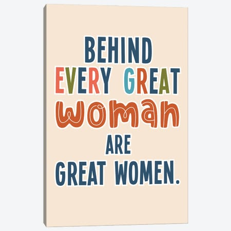 Great Woman Canvas Print #DNA53} by Delores Naskrent Canvas Wall Art
